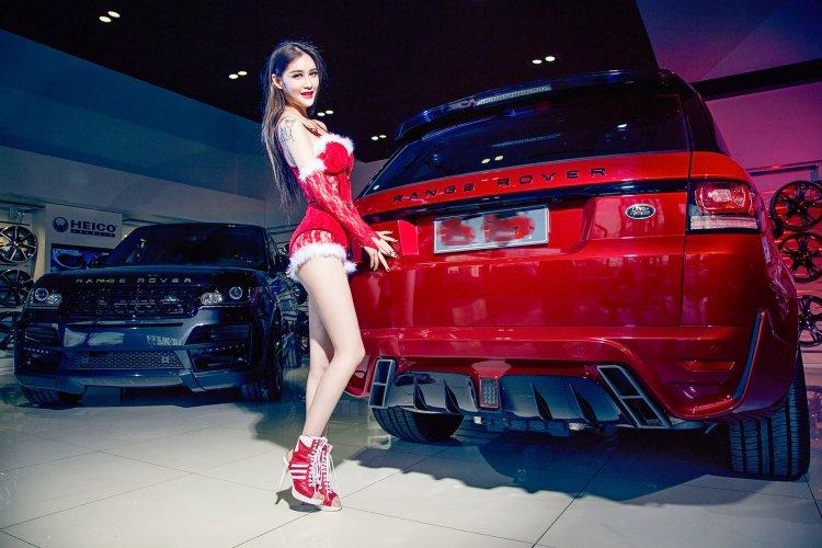 Người đẹp và xe Range Rover 5