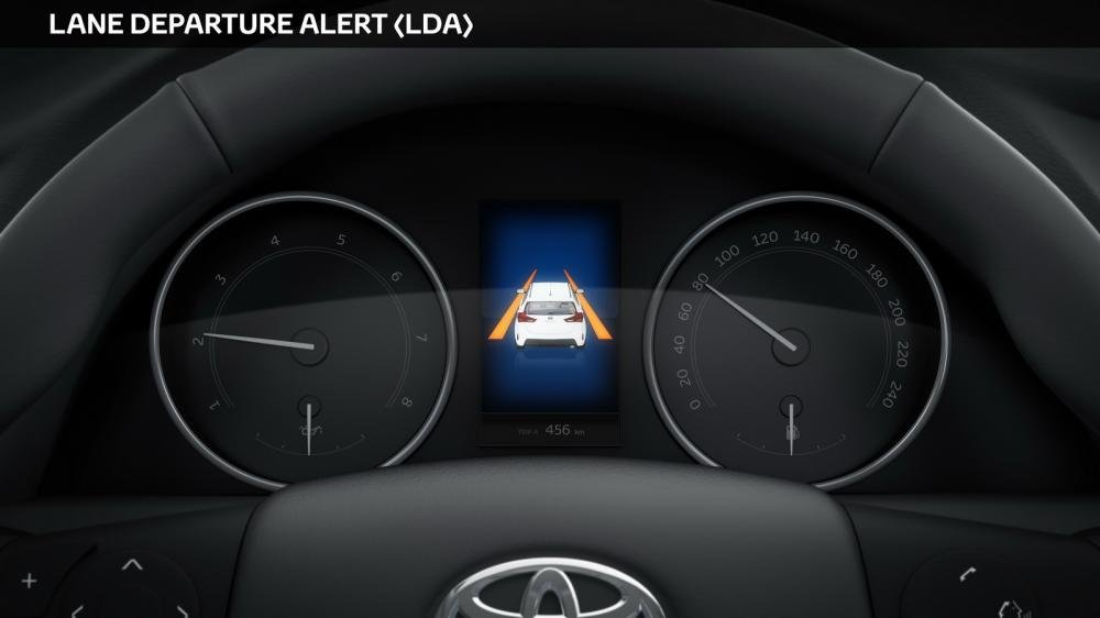 Công nghệ an toàn Toyota Safety Sense - Tính năng cảnh báo khởi hành sai làn đường