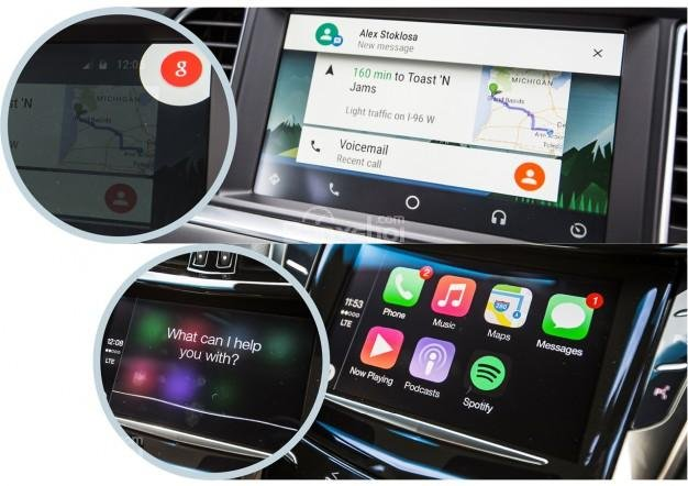 Google Maps chỉ tương thích với Android Auto và CarPlay chỉ sử dụng Apple Maps