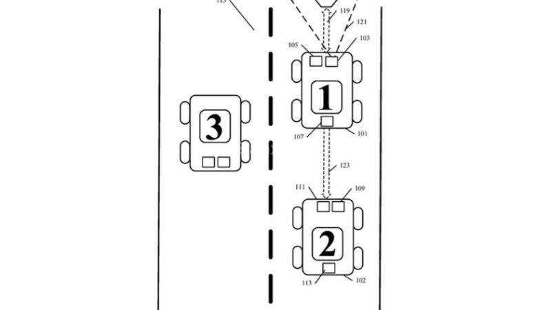 Google sáng chế công nghệ giữ khoảng cách an toàn giữa các xe ô tô.