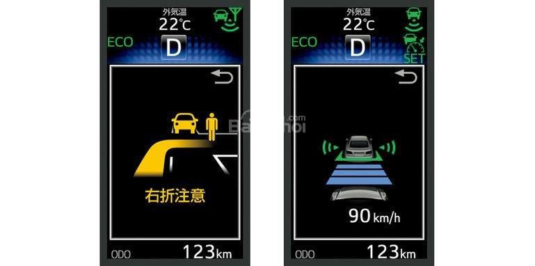 Hệ thống kiểm soát hành trình của Toyota Crown được trang bị khả năng tương tác giữa các phương tiện