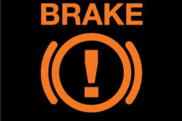 Đèn cảnh báo áp suất dầu hệ thống phanh.