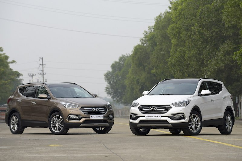Ngoại thất Hyundai SantaFe 2016.