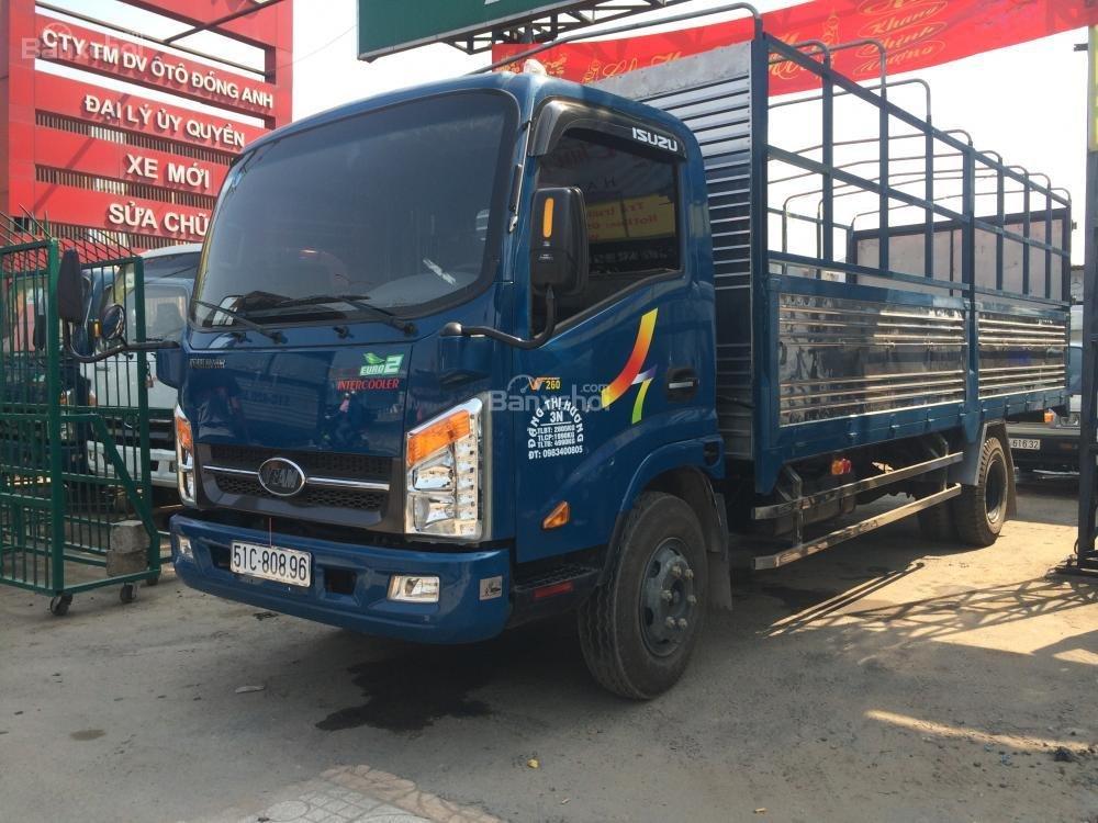 Can mua xe tai Veam 19 tan 2 tan may Hyundai thung dai 6m gia ban xe Veam 1T9 2T vao thanh pho