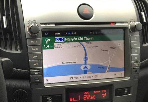 Hệ thống dẫn đường GPS trên xe ô tô có thể được tích hợp vào DVD.