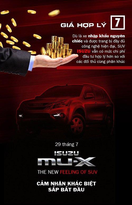 7 điểm mạnh khác biệt của SUV Isuzu MU-X sẽ ra mắt Việt Nam ngày 29/7 tới 7