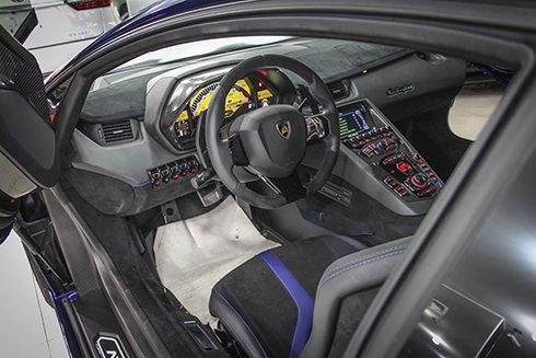 Chiêm ngưỡng Lamborghini Aventador SV màu xanh độc nhất tại Việt Nam 9