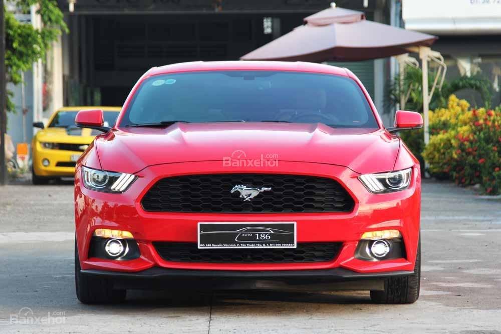 Đánh giá xe Ford Mustang 2015 có đầu xe thiết kế giống đầu của cá mập.