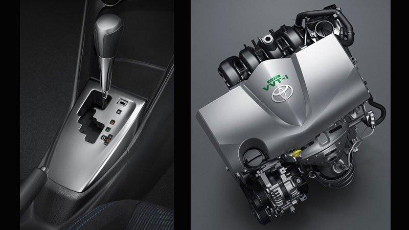 Toyota Vios facelift mới sẽ được trang bị hộp số vô cấp CVT.