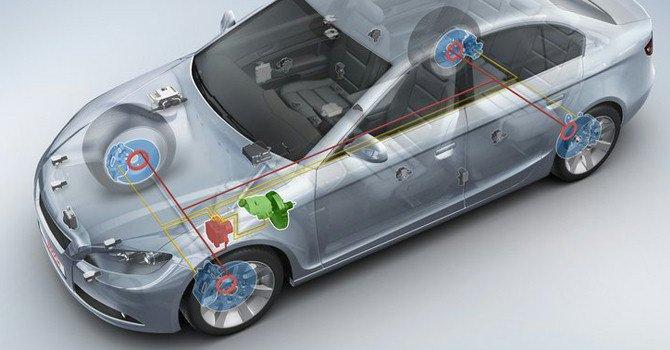 Hệ thống phanh ABS giúp xe ô tô không bị trượt bánh hay mất kiểm soát.