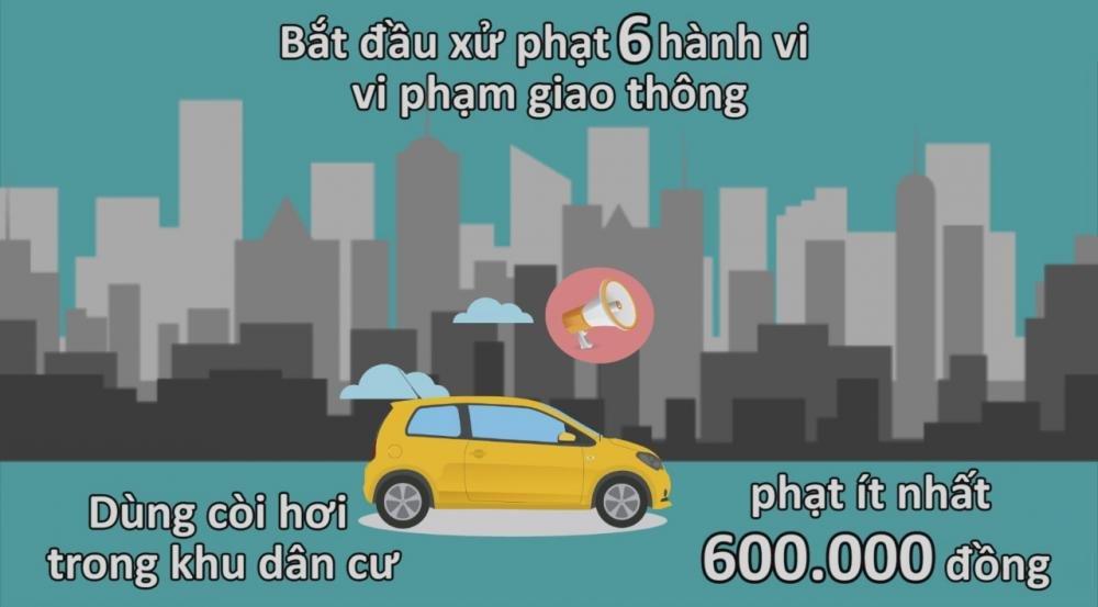 6 quy định xử phạt ô tô bắt đầu áp dụng từ 1/1/2017 2