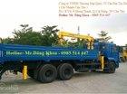 Bán xe tải thùng Kamaz có cẩu 5 tấn, nhập khẩu, mới 100%