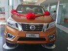 Bán xe Nissan Navara 2.5E, màu vàng cam, nhập khẩu chính hãng Thái, hotline 0985411427