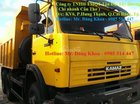 Bán xe Ben Kamaz, đời 2016,14 tấn, màu vàng, 3 chân, 2 cầu sau, nhập khẩu, mới