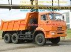 Bán xe Ben Kamaz 65111, đời 2015,14 tấn, màu cam, 3 chân, 3 cầu, nhập khẩu, mới