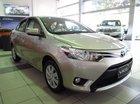 Toyota Vios 1.5E phiên bản động cơ mới 2016, màu vàng cát, giá tốt