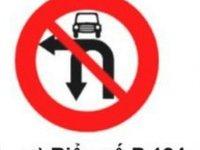 Cấm ô tô rẽ trái và quay xe.