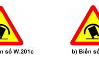 Thêm biển báo chỗ ngoặt nguy hiểm có nguy cơ lật xe.