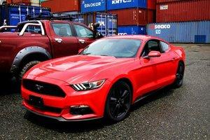 Đánh giá xe Ford Mustang 2015 có tay nắm cửa sơn đồng màu xe, gương chiếu hậu chỉnh/gập điện.