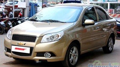 Bán ngay Chevrolet Aveo LT 1. 5MT năm 2014, xe màu vàng, số tay, giá 392tr